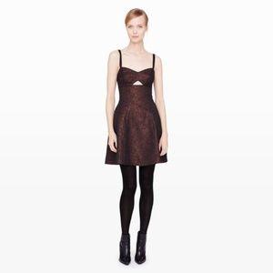 Club Monaco Lavra Metallic Cut Out Dress Size 6